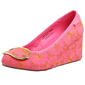 Sugar Women's Nancy Drew Embroidered Wedge