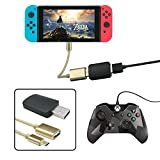 YOUSHARES Controller Converter for Switch Nintendo – Compatible to PS3 / PS4 / Xbox 360 / Xbox One Controller, TV Mode Supportive, Vibration Functional, Type – C OTG Cable (Color: OTG)