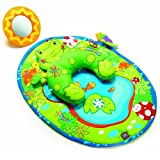 Tiny Love Tummy Time Fun Activity Mat, Frog Baby, NewBorn, Children, Kid, Infant