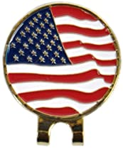 American Flag Ball Marker & Hat Clip