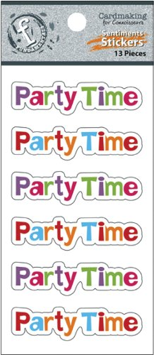 Ruby Rock-It Fundamentals Cardmaking Cardstock Stickers, 2.5 by 4.75-Inch, Party Time, 2-Pack