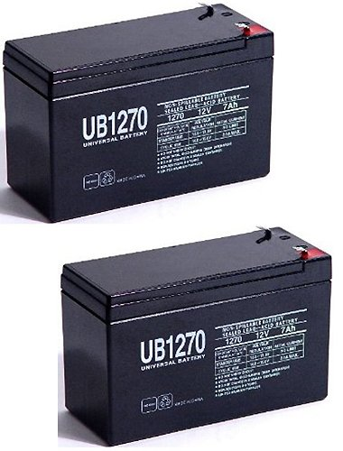 12V 7Ah Sla Battery Replaces Gp1272 Np7-12 Bp7-12 Npw36-12 Ps-1270 Ub1280 - 2 Pack