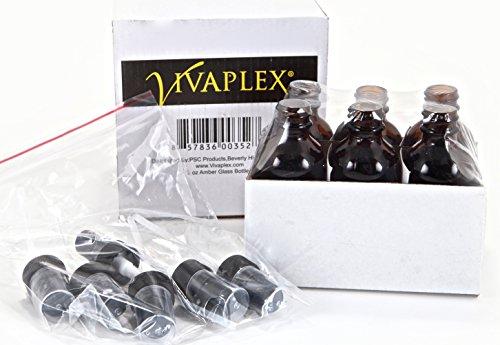 6-New-High-Quality-2-oz-Amber-Glass-Bottles-with-Black-Fine-Mist-Sprayer