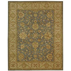 Antiquities Blue and Beige Jewel Wool Handmade Area Rug 12' x 15'