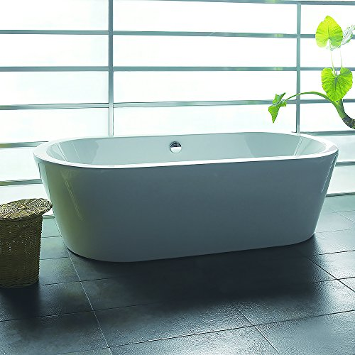 Akdy f224 8711 bathroom combo white color acrylic for Coloured free standing bath