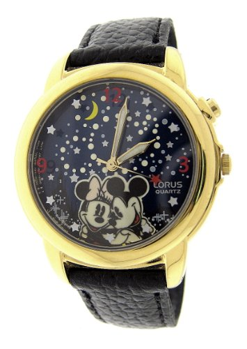 Mickey with Minnie Mouse LORUS Musical watch plays WISH UPON A STAR!