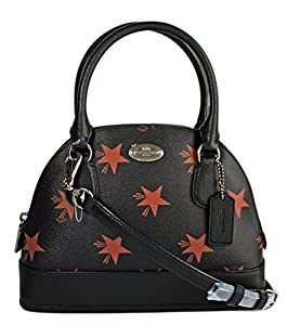 Coach Mini Cora Domed Satchel in Star Canyon Print Coated Canvas 36518 Black