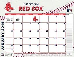 Turner Boston Red Sox 2016 Desk Calendar, January-December 2016, 22 x 17\
