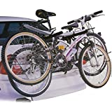 CAR CYCLE CARRIER 2 BICYCLE BIKE RACK UNIVERSAL FITTING SALOON HATCHBACK ESTATE (Black*1)