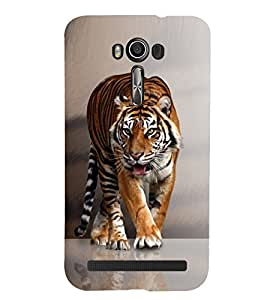 PRINTSHOPPII TIGER Back Case Cover for Asus Zenfone 2 Laser ZE550KL::Asus Zenfone 2 Laser ZE550KL (5.5 Inches)