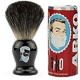 Rusty Bob - Afeitarse hecha de genuina pelo de tejón y jabón de afeitar Arko - schwarz einfach