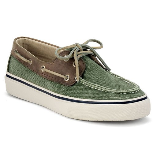 Men's Sperry Top-sider, Bahama 2 Eye Boat Shoe GREEN MULTI 9.5 M