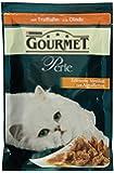 Gourmet Perle Katzenfutter Erlesene Streifen mit Truthahn, 24 Beutel (24 x 85 g)