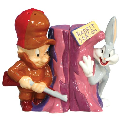 stealstreet-elmer-fudd-and-bugs-bunny-magnetic-salt-and-pepper-shakers
