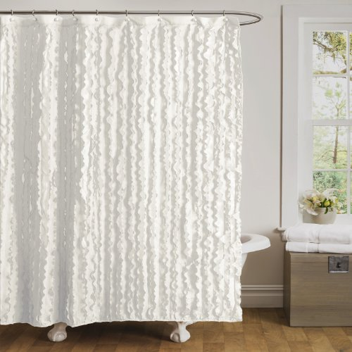 Best White Ruffle Shower Curtain