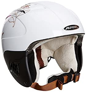 ALPINA Kinder Skihelm Carat, White-Rose, 54 - 58, 9035318