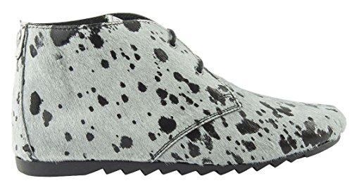 Maruti ginny hairon leather splash grey black (41)