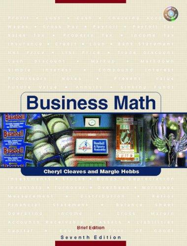 Business Math, Brief w/CD & Study Guide & Tutor Center Access Card Pkg. (7th Edition)