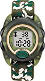 Timex Kids Boy's Quartz Watch with LCD Dial Digital Display and Green Nylon Strap T71912