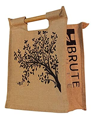 Brute Jute Eco-friendly Bamboo Handle Grocery Tote Bag [Standard Size]