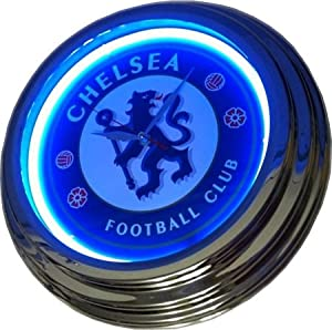 Official Chelsea Fc Blue Neon Wall Clock Cfc Amazon Co Uk