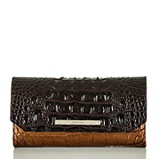 Soft Checkbook Wallet<br>Bronze Sienna