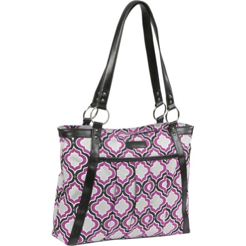 Kailo Chic Women's Pleated Laptop Tote - EXCLUSIVE COLOR (Purple Moroccan)