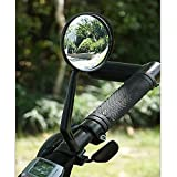 Superdream 360° Rotation Mountain Road Bike Bicycle Cycling MTB Rear View Mirror Handlebar Wide Angle Rearview Adjustable Universal Safety Bike Mirror Black 22MM (Color: Black, Tamaño: Large)