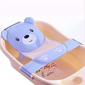infant adjustable bath seat support net bathtub sling shower mesh bathing cradle. Black Bedroom Furniture Sets. Home Design Ideas