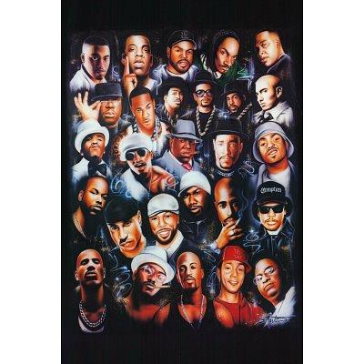 (24X36) Rap Legends (Rapper Collage) Music Poster Print