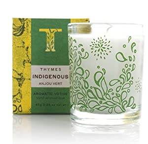 Thymes Indigenous Aromatic Votive Candle, Anjou Vert