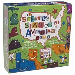Scrambled States of America Game Card Game