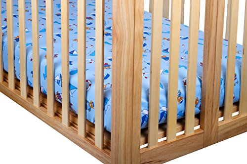 Crib Sheets, Francois et Mimi 100% Cotton Standard Crib Sheet Set, 2 Pack Fitted Sheets (Boys)