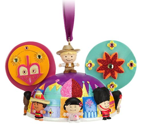 Disney Parks Its a Small World Mickey Mouse Ears Hat Ornament RELEASE by disney