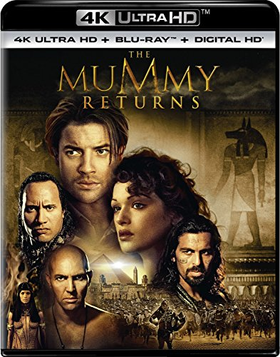 4K Blu-ray : The Mummy Returns (With Blu-Ray, Ultraviolet Digital Copy, 4K Mastering, Digitally Mastered in HD, 2 Pack)