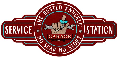 Busted Knuckle Garage BUST070 Service Station Metal Sign (Busted Knuckle Garage Clock compare prices)