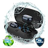 [Upgraded]Bluetooth Headphones, Tiamat True Wireless Earbuds, Advanced Mini Bluetooth V4.2 Earphones, IPX5 Waterproof Headset with Upgraded Battery and Charging Case for Samsung iPhone iWatch