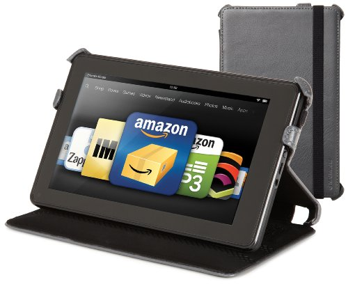 Kindle Fire Genuine Leather Cover by Marware, Charcoal (does not fit Kindle Fire HD)