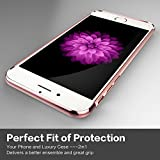 iPhone 6 case, bonsalay 3 in 1 Ultra Thin and Slim Design Coated Premium Non Slip Surface Shockproof Plating Metal Texture Skin Protector For Apple iPhone 6 and iPhone 6s-Rose Gold(4.7)