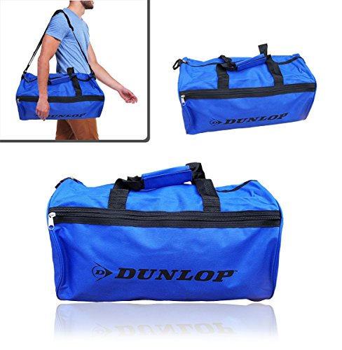 Borsone due maniglie sport viaggio mare DUNLOP bagaglio a mano 50 x 30 x 22 cm vari colori (blu e nero)