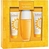 Sunflowers Perfume for Women by Elïz?beth Ardën GIFT SET Includes: 3.3 fl. oz Eau de Toilette + 3.3 fl. oz Body Lotion + 3.3 fl. oz Body Wash