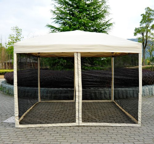 Outsunny 10' x 10' Easy Pop Up Canopy Tent w/