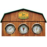 John Deere Barn Weather Center: Barn Shaped - Includes Clock and 2 Gauges