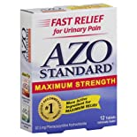 AZO Standard Urinary Pain Relief, Maximum Strength, Tablets, 12 ct.