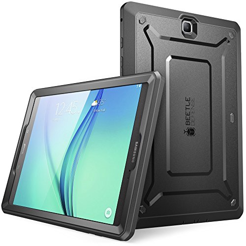 Galaxy Tab A 9.7 Case, SUPCASE Unicorn Beetle PRO Series Full-body Hybrid Protective Case with Screen Protector for Samsung Galaxy Tab A 9.7 [SM-T550] Dual Layer Design+Impact Resistant Bumper (Black/Black) (Samsung Galaxy S2 Otter Case compare prices)