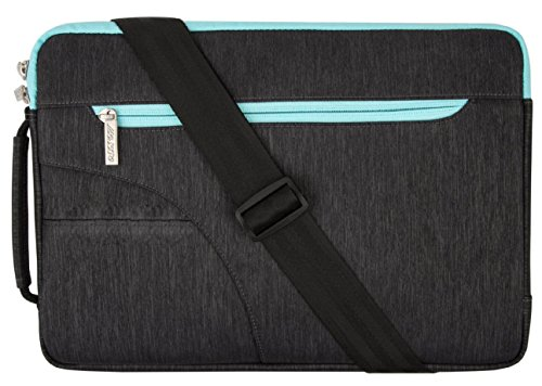 Mosiso - Custodia Borsa / Borsa a Tracolla / Ventiquattrore / Sleeve Case per Apple 12,9 iPad Pro e Laptop / Notebook / Computer Portatile / MacBook Pro / MacBook Air da 13-13.3 Pollici, Nero