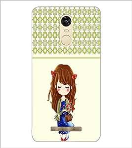 PrintDhaba Cute Girl D-3408 Back Case Cover for XIAOMI REDMI NOTE 3 (MEDIATEK) (Multi-Coloured)