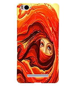 Fuson Beautiful Girl Back Case Cover for XIAOMI Mi4i - D3633