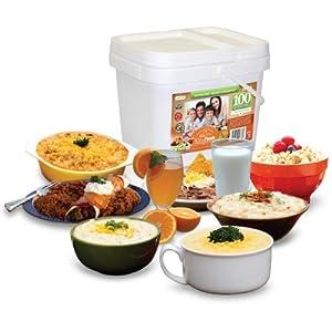 Relief Foods Gluten Free Entree and Breakfast Emergency Food Supply Bucket (100-Serving)