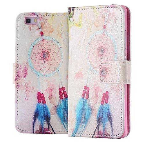 ECENCE Huawei P8 Lite Custodia Flip Portafoglio Case Cover Wallet Etui Dreamcatcher 41040104